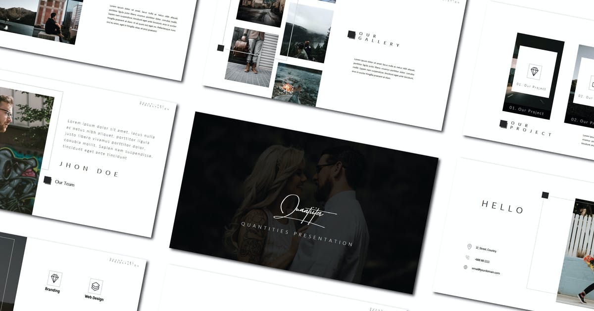 Download Quantities | Powerpoint Template by amarlettering