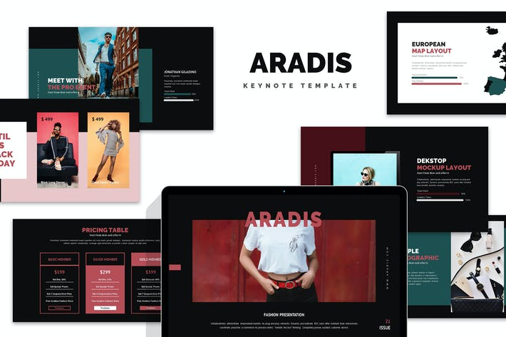 Cover Image For Aradis : Black Friday Keynote Template
