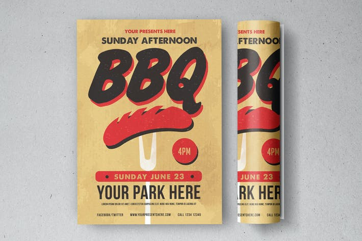 Cover Image For Sunday BBQ Flyer