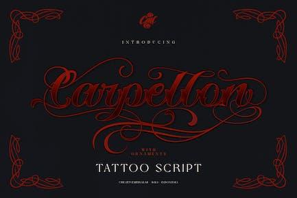 Carpellon - Guion de tatuaje con adorno