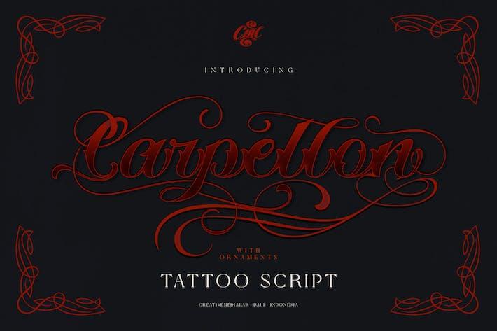 Thumbnail for Carpellon - Guion de tatuaje con adorno