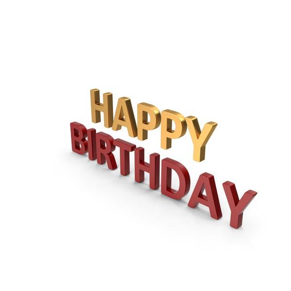 Thumbnail for Happy Birthday Symbol Gold und Rot