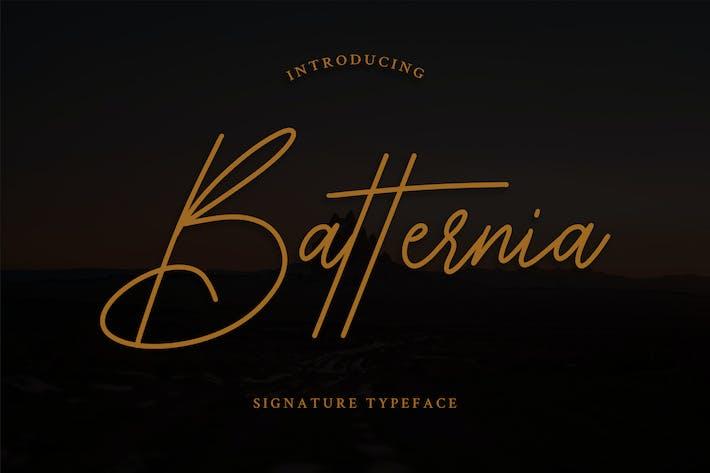 Cover Image For Batternia Handwritten Typeface