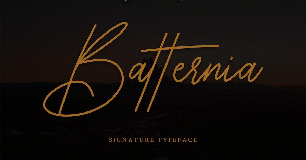 Download Batternia Handwritten Typeface by Formatika