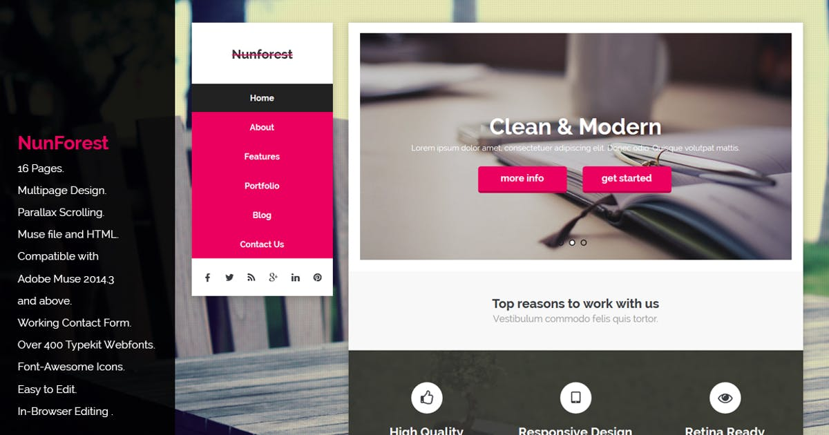 Download Nunforest - Multipurpose Muse template by Muse-Master