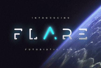 Flare - Font de science futuriste