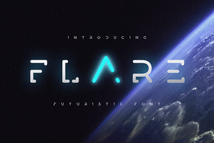 Thumbnail for Flare - Futuristic Science Font