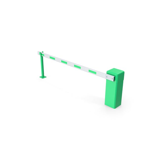 Automatic Road Barrier Green