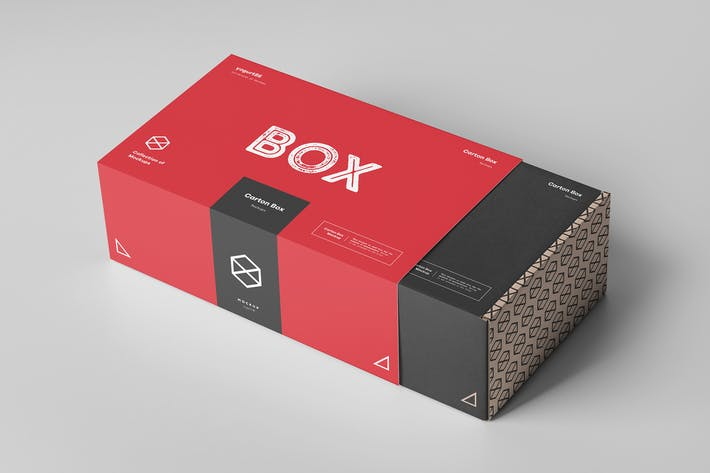 Thumbnail for Carton Box Mock-up 23x14x8 & Wrapper