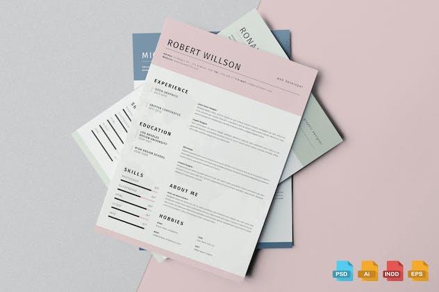 Clean Resume Template Vol.2