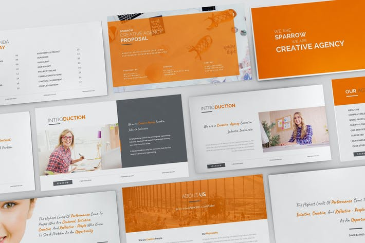 Sparrow - Creative Agency Powerpoint Presentation by giantdesign on