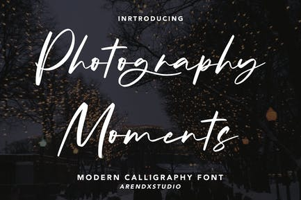 Momentos de fotografía - Fuente de caligrafía moderna