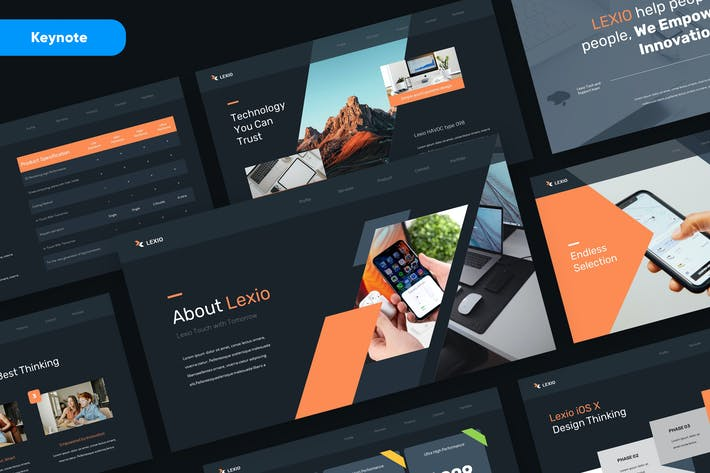 Thumbnail for LEXIO - Technology and Gadget Keynote Template