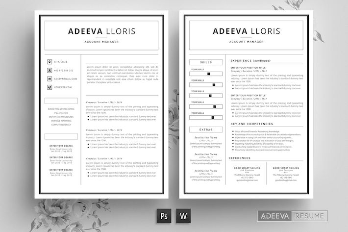 Thumbnail for Simple Resume Template Loris