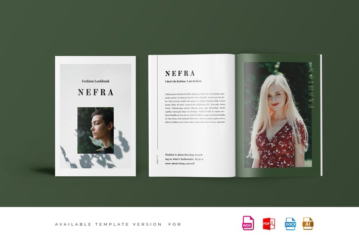 Thumbnail for Nefra - Fashion Lookbook Catalogue