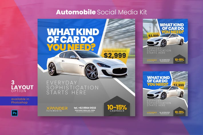 Automobile Social Media Kit