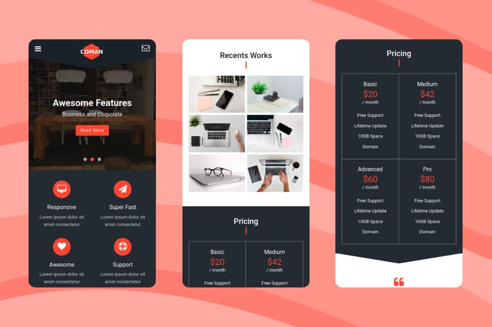 Thumbnail for Coman - Creative Mobile Template