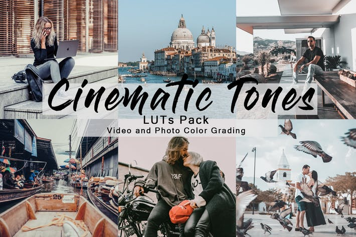 Thumbnail for Cinematic Tones -  LUTs Pack for Video and Photo