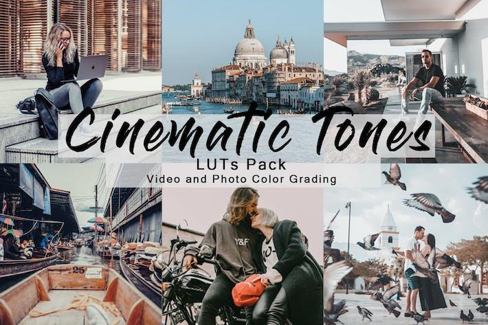 Кинематографическая тона - LUTs Pack для видео и фото