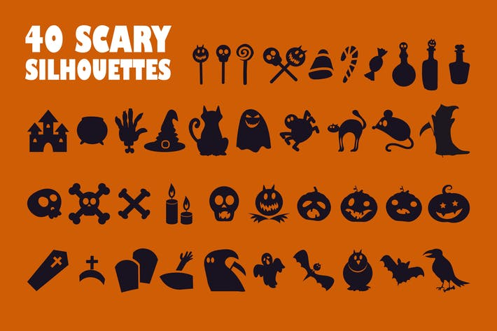 Halloween Silhouetten Set
