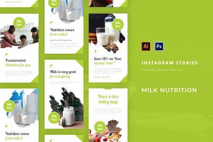 Milch Ernährung Instagram Story