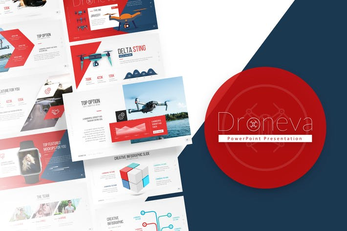 Thumbnail for Droneva - Technology PowerPoint Template