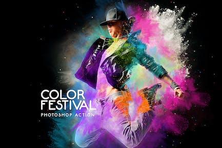 Цветовой фестиваль Photoshop действие
