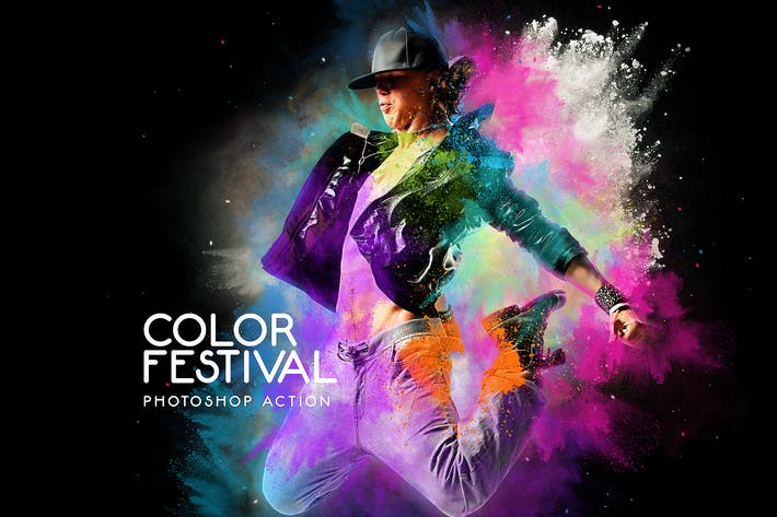 Thumbnail for Color Festival Photoshop Action