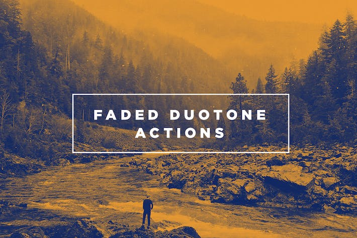 Thumbnail for Faded Duotone Photoshop Actions