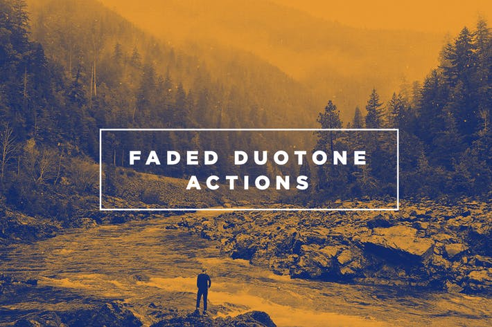 Faded Duotone Photoshop Actions