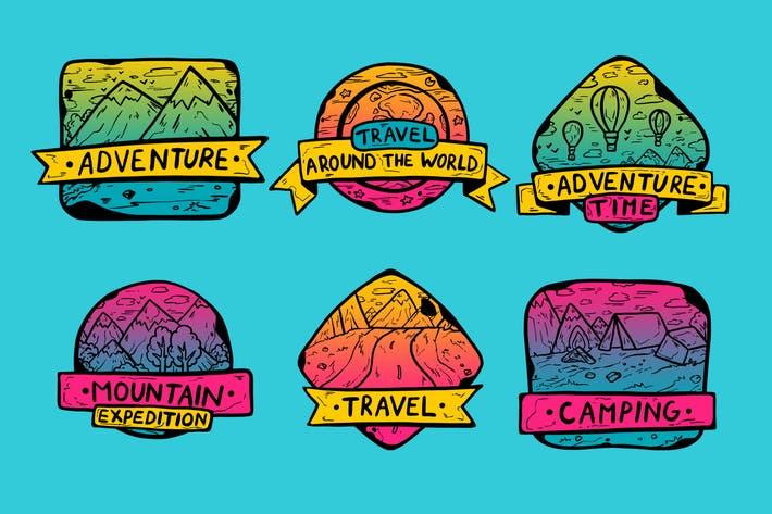 Thumbnail for Gradient Trip Badges
