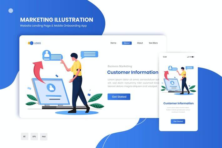 Thumbnail for Customer Information Flat Landing & Onboarding App
