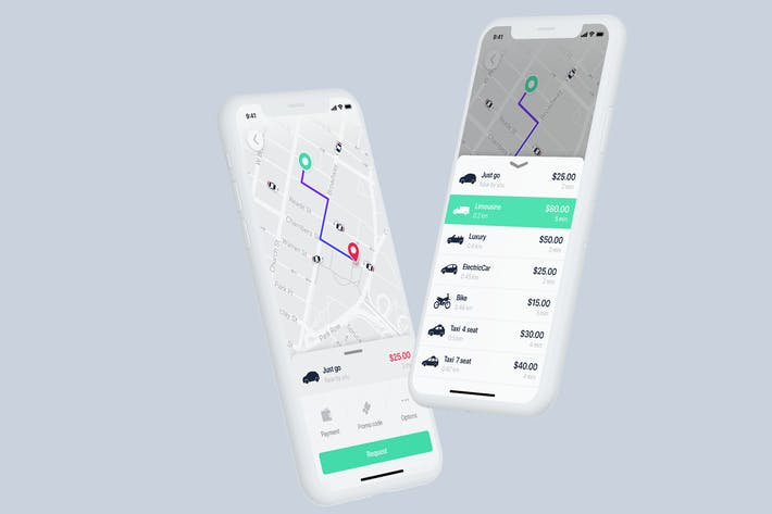 Thumbnail for Taxi Mobile UI Concept