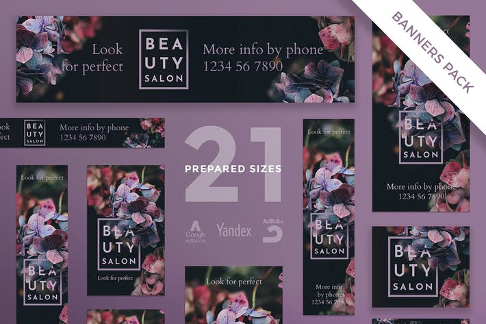 Cover Image For Beauty Salon Banner Pack Template