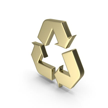 Gold Recycle Symbol