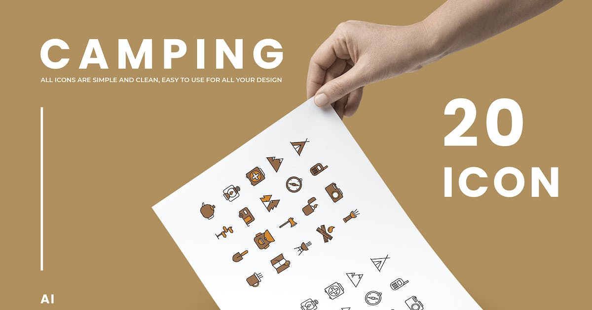 Download Camping - Icons by Streakside