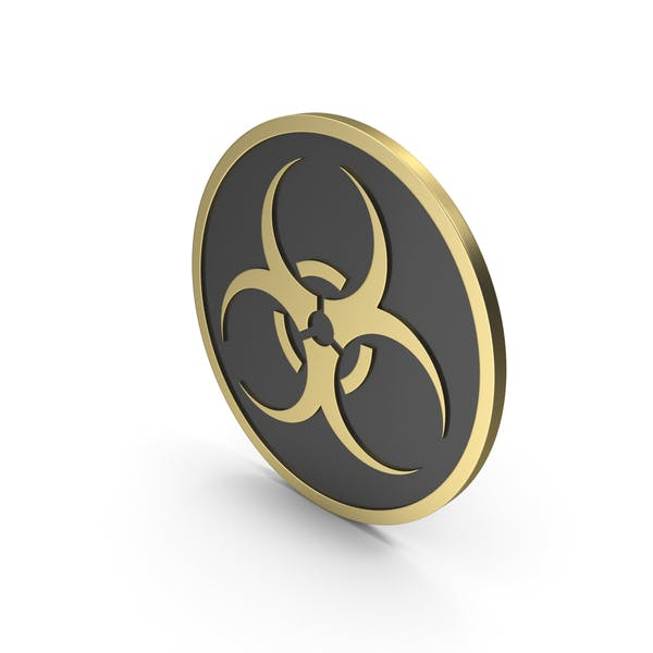 Biohazard Sign Gold Schwarz