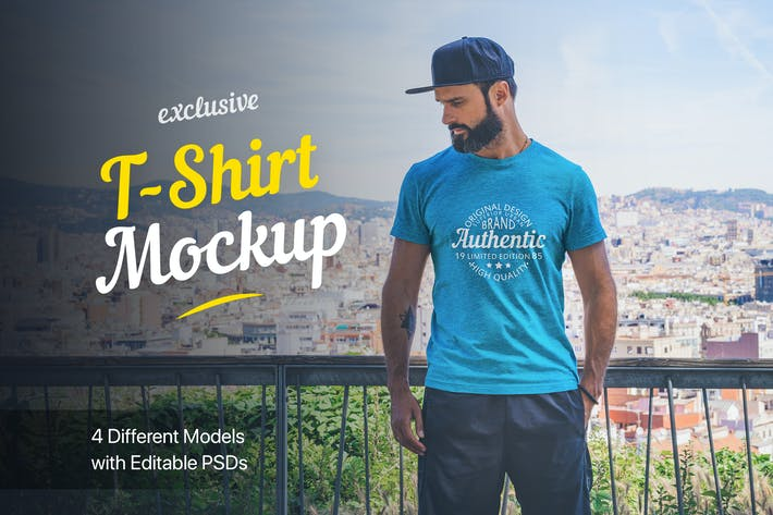 Thumbnail for T-Shirt Mockup Collection 01