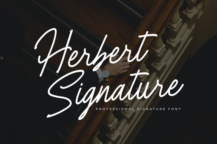 Thumbnail for Herbert Signature Font