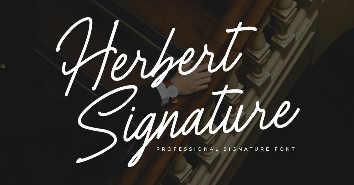 Download Herbert Signature Font by indotitas
