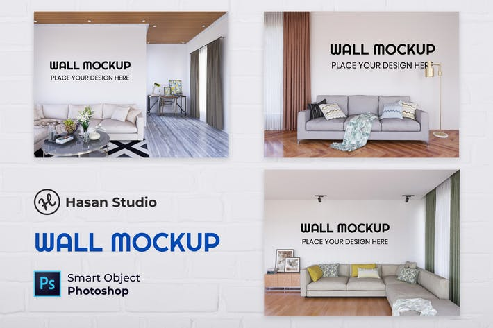 Thumbnail for Nuzie - Living Room Wall Mockup Collection