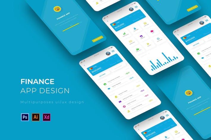 Thumbnail for FinanceApp App Design