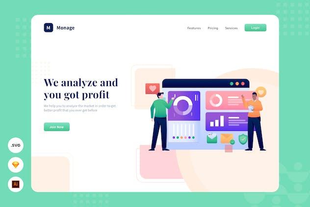 Target Market - Website Header - Illustration