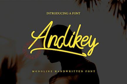 Andikey монолитный шрифт