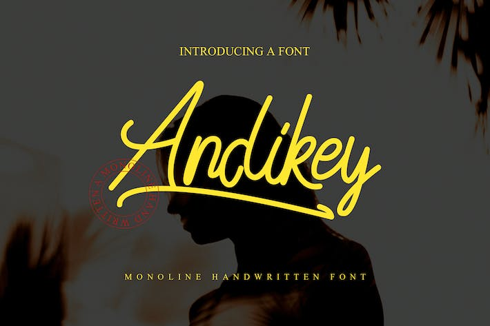 Thumbnail for Andikey Monoline Font Cover case Negro