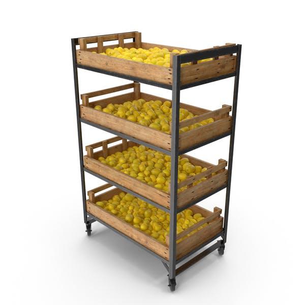 Retail Shelf with Lemons