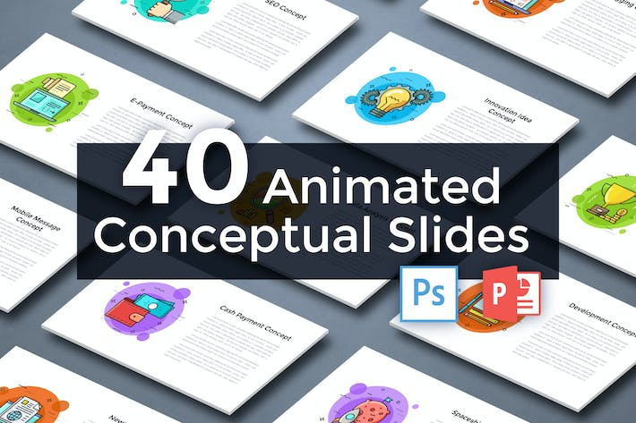 Thumbnail for 40 Animated Conceptual Slides for Powerpoint