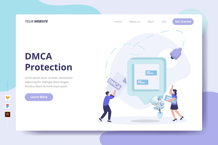 DMCA Protection - Landing Page