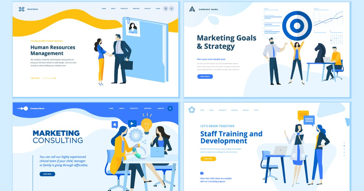 Download Set of Business Web Page Design Templates by PureSolution