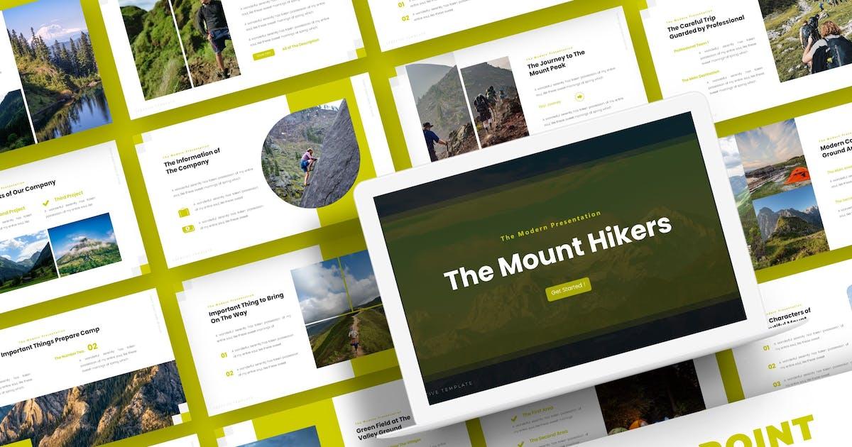 Download The Mount Hikers - Powerpoint Template by karkunstudio